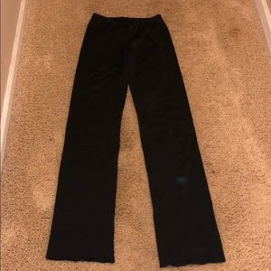 Black varsity dance pants